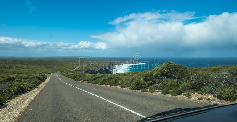 Estrada às rochas notáveis, ilha do canguru, Sul da Austrália fotos de stock