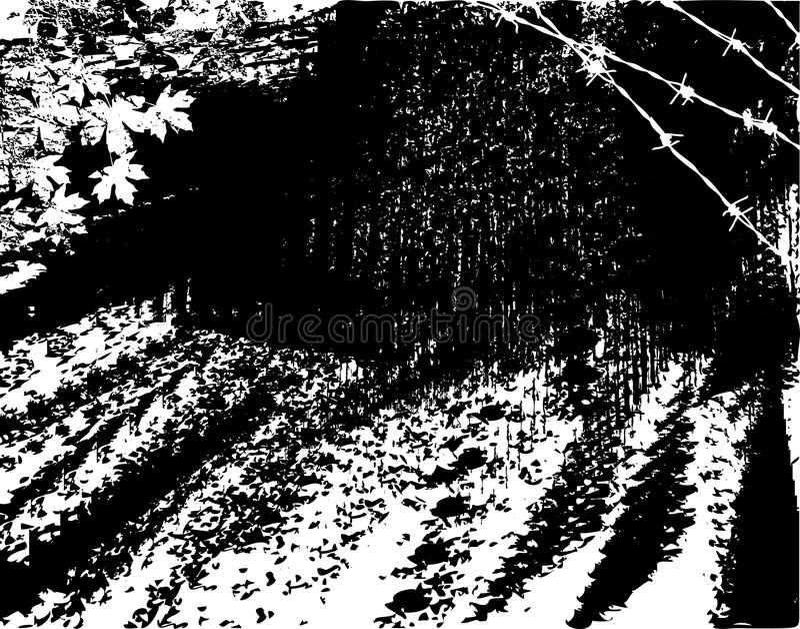 Estrada áspera ilustração do vetor