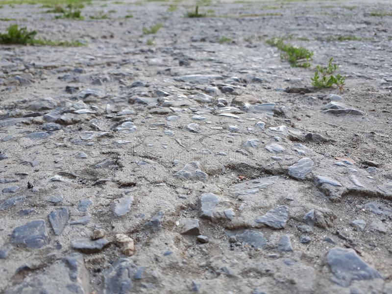 Estrada áspera com asfalto mau foto de stock
