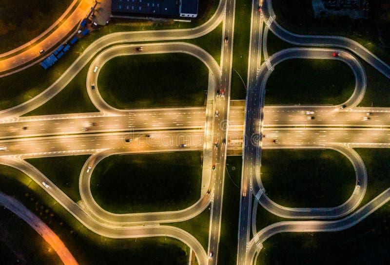 Estrada aérea do trevo fotos de stock royalty free