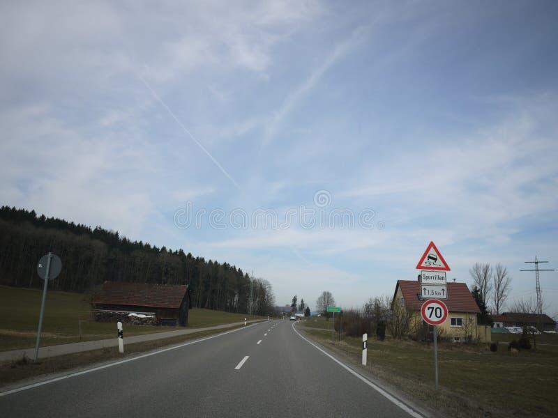 Estrada aberta da rua do alemão foto de stock