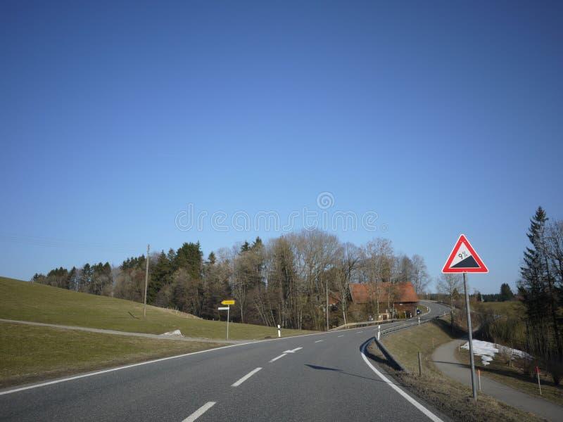 Estrada aberta da rua do alemão imagem de stock royalty free