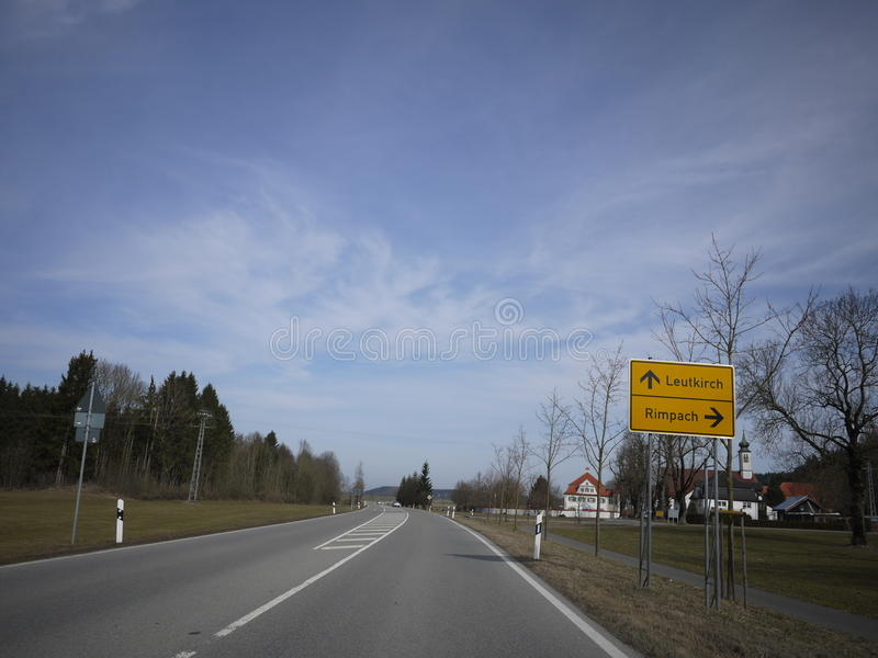 Estrada aberta da rua do alemão fotografia de stock