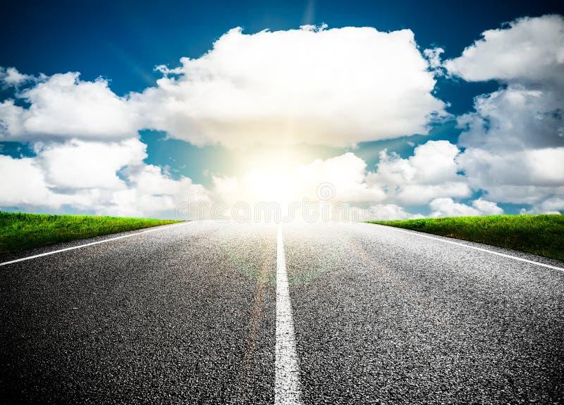Estrada adiante no futuro fotografia de stock