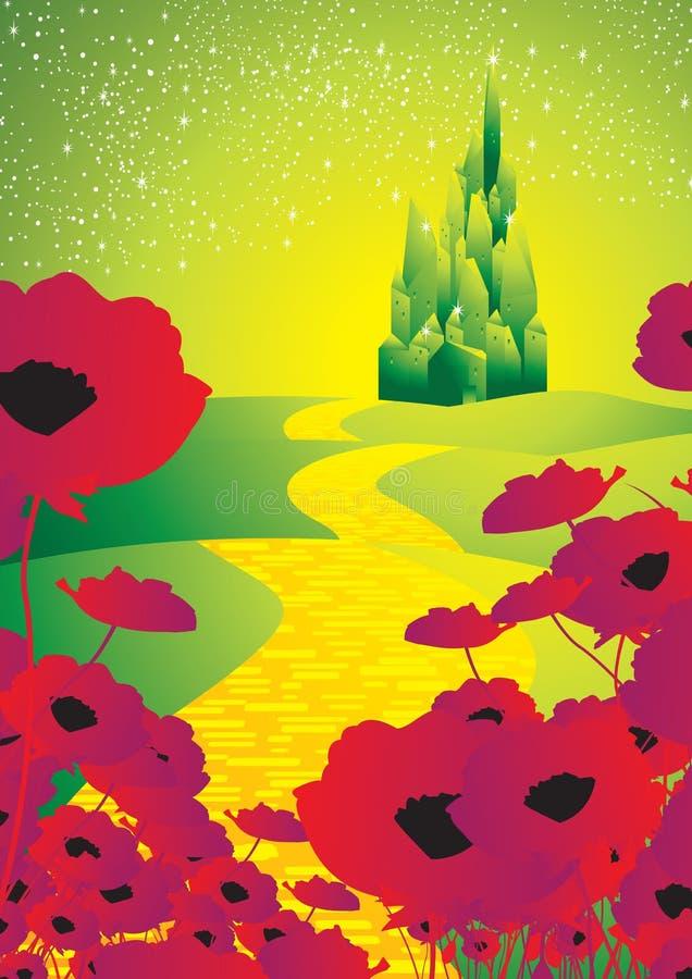 Estrada amarela 1 do tijolo ilustração royalty free