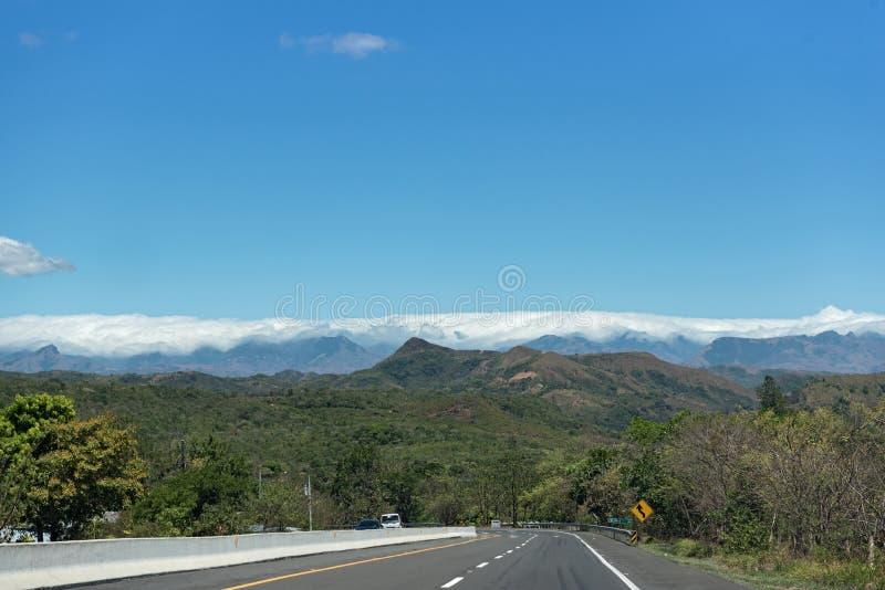 A estrada americana da bandeja perto do Santiago Panam? foto de stock royalty free