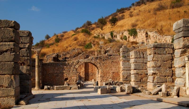 Estrada antiga, Ephesus fotos de stock