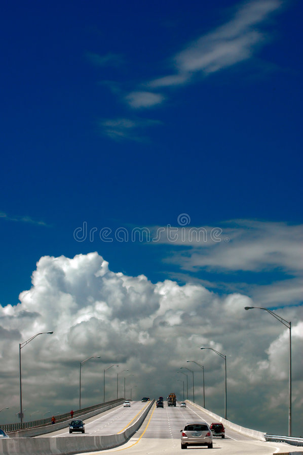Estrada ao céu imagens de stock
