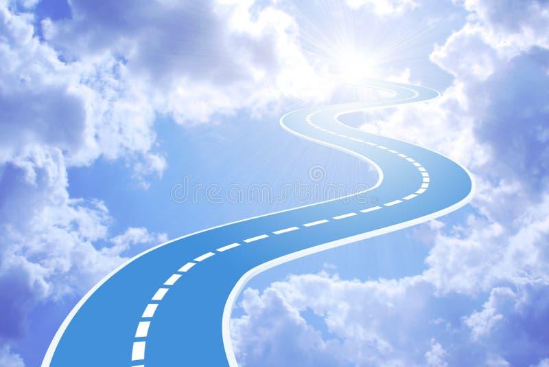 Estrada ao céu ilustração do vetor