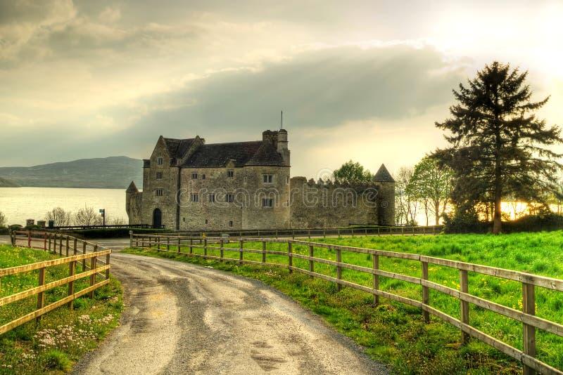 Estrada ao castelo de Parkes fotos de stock