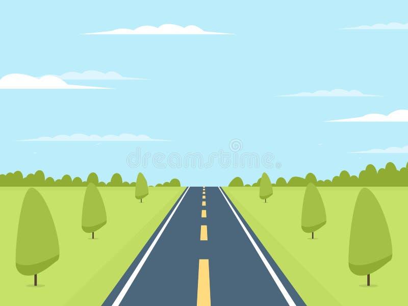 Estrada ao horizonte ilustração royalty free