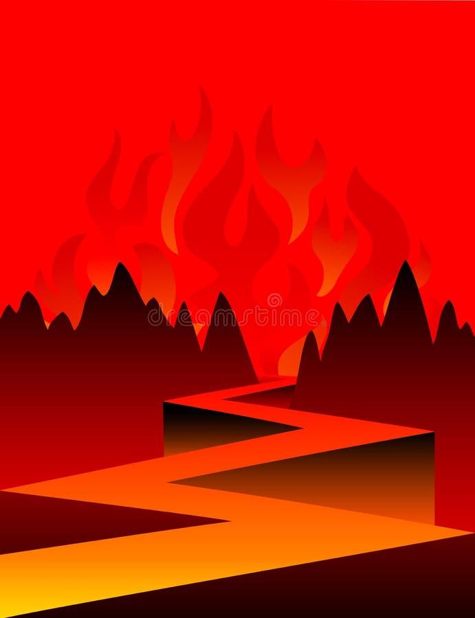 Estrada ao inferno/eps ilustração do vetor