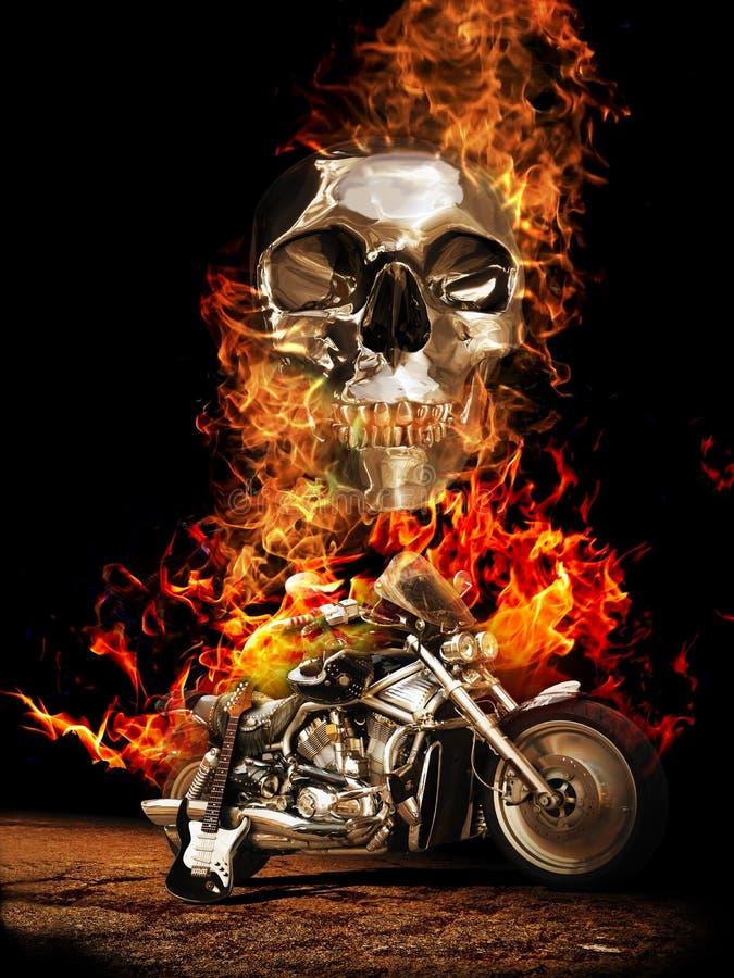 A estrada ao inferno ilustração do vetor