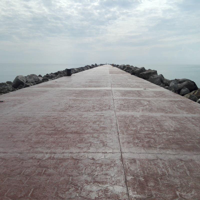 Estrada ao mar imagens de stock
