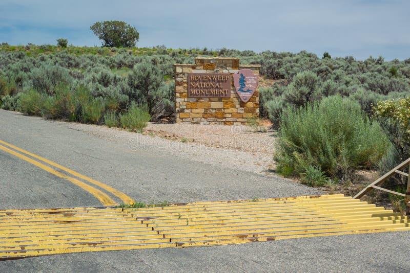 Estrada ao monumento nacional de Hovenweep imagem de stock royalty free