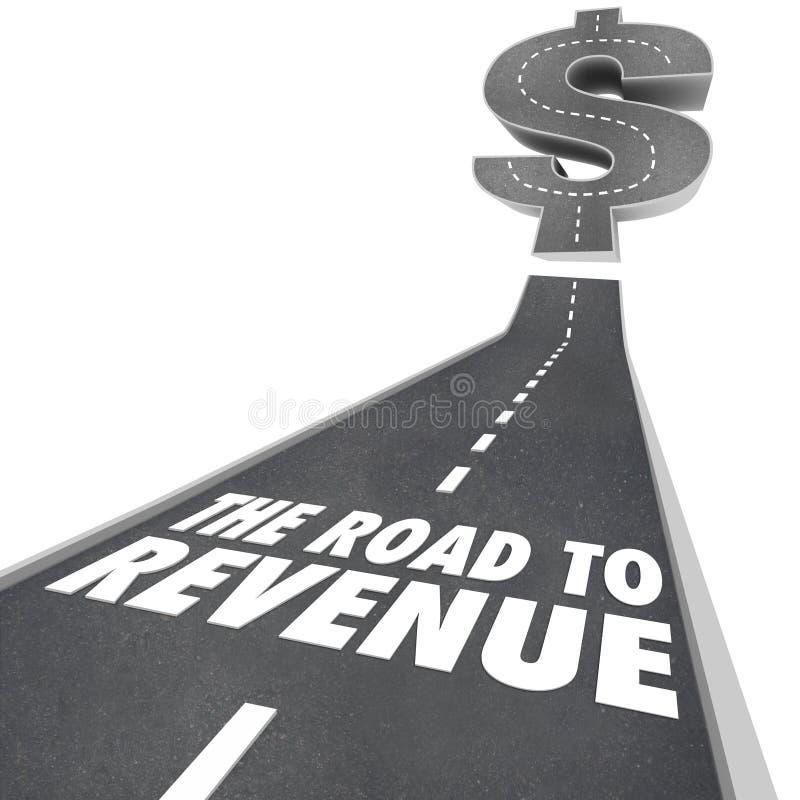 Estrada ao rendimento que faz a renda de dinheiro Job Earning ilustração stock