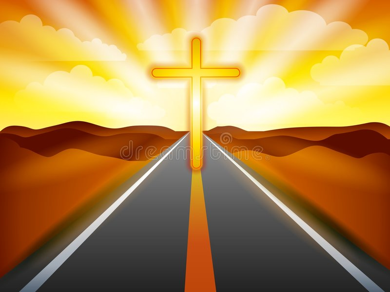 A estrada ao salvação ilustração stock