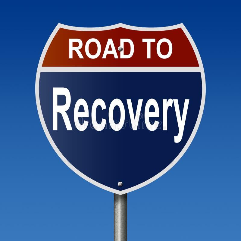 Estrada ao sinal da recupera??o ilustração do vetor