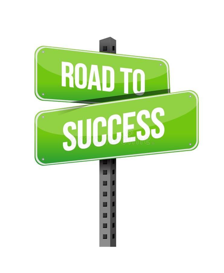 Estrada ao sinal do sucesso ilustração royalty free