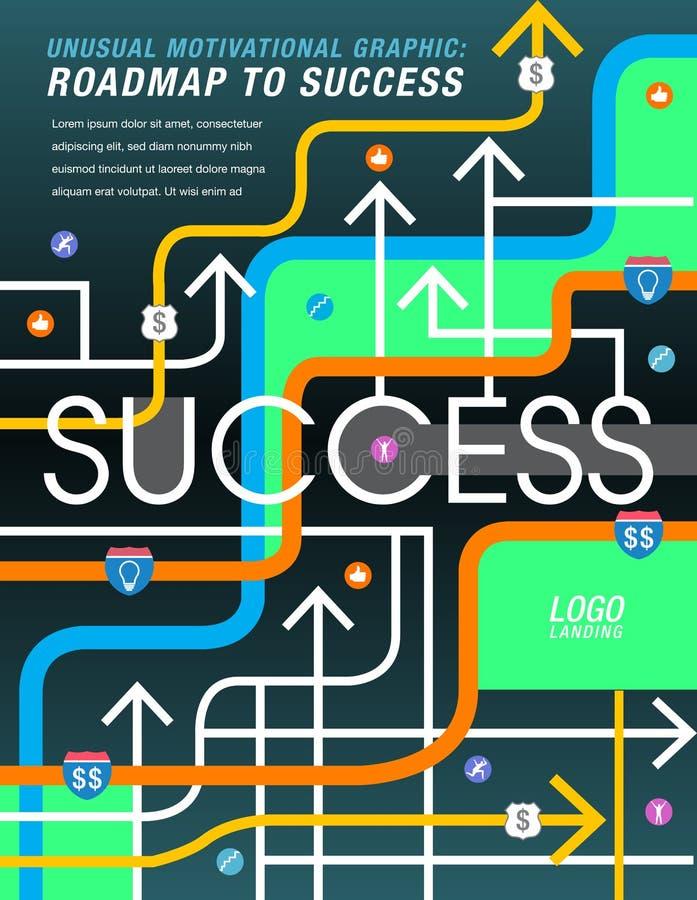 A estrada ao sucesso é traçada para fora ilustração royalty free