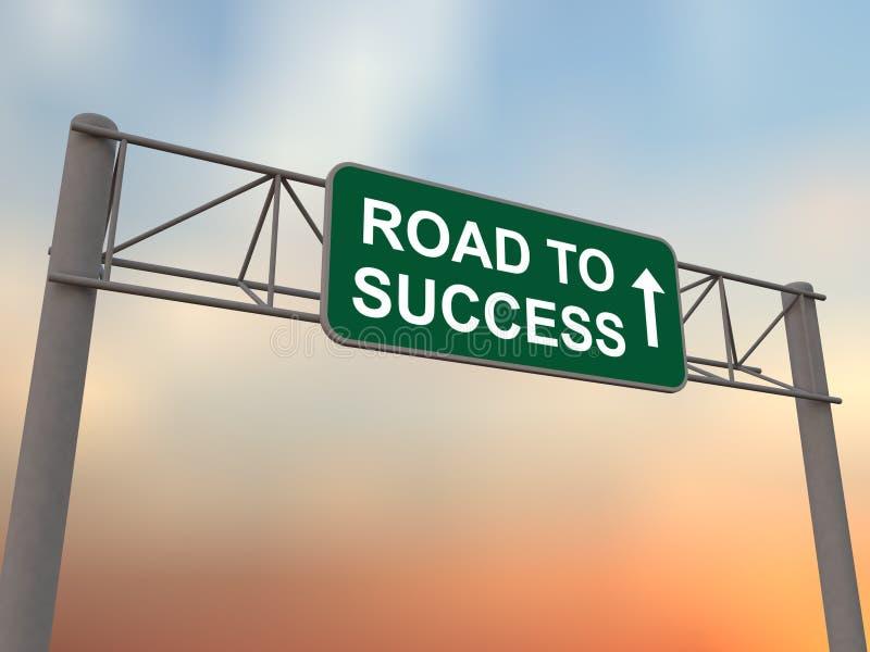 Estrada ao sucesso ilustração royalty free