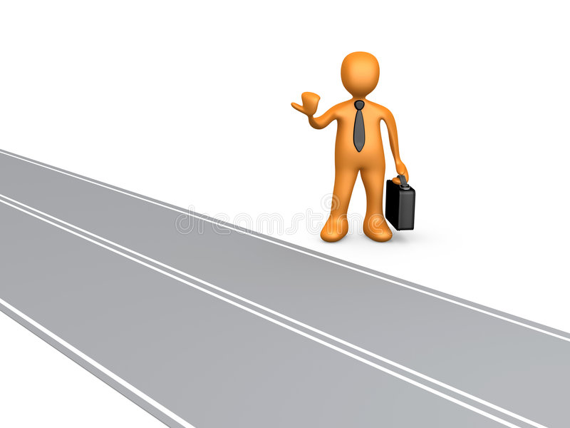 Estrada ao sucesso ilustração do vetor