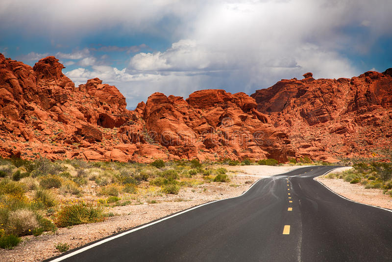 A estrada ao vale do fogo fotos de stock royalty free