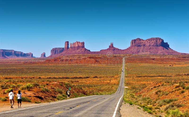 Estrada ao vale do monumento foto de stock royalty free
