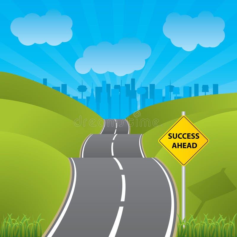 Estrada aos succes ilustração stock