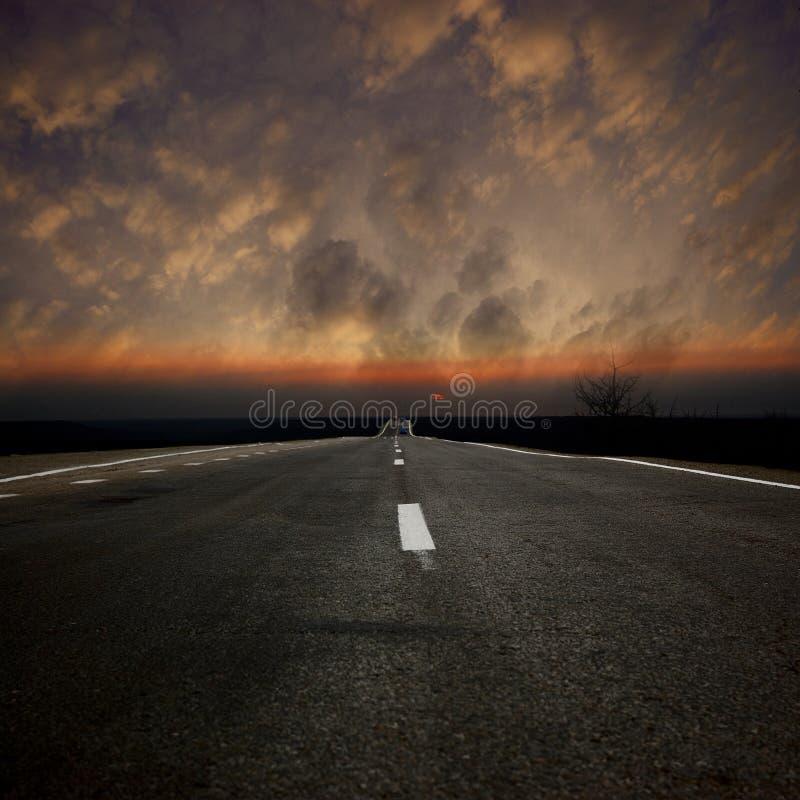 Estrada asfáltica imagem de stock