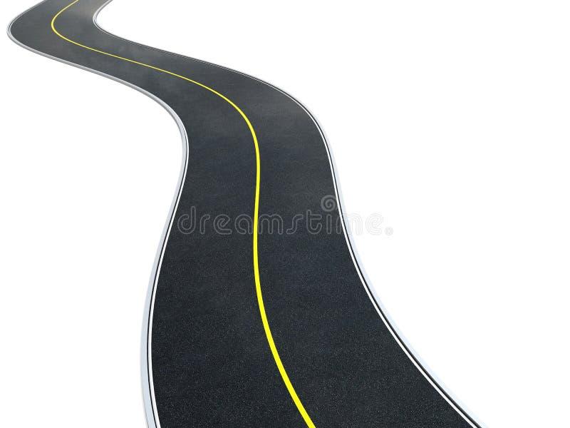 Estrada asfaltada ilustração stock