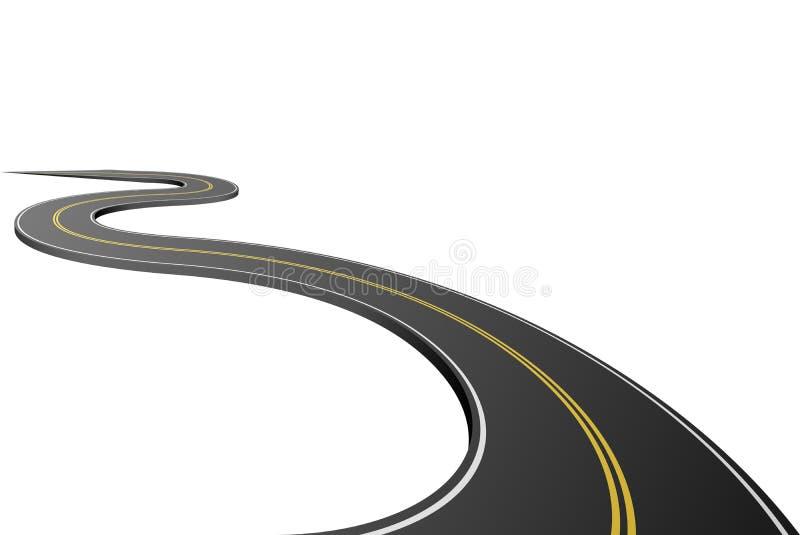 Estrada asfaltada abstrata ilustração royalty free