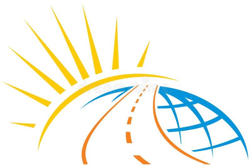 Estrada através do mundo ilustração stock