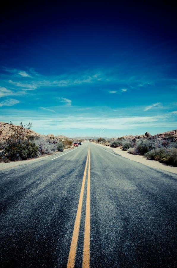 Estrada azul foto de stock