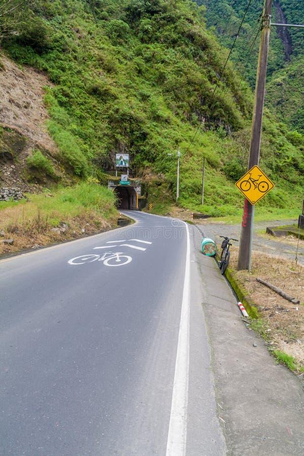 Estrada Banos - Puyo fotografia de stock