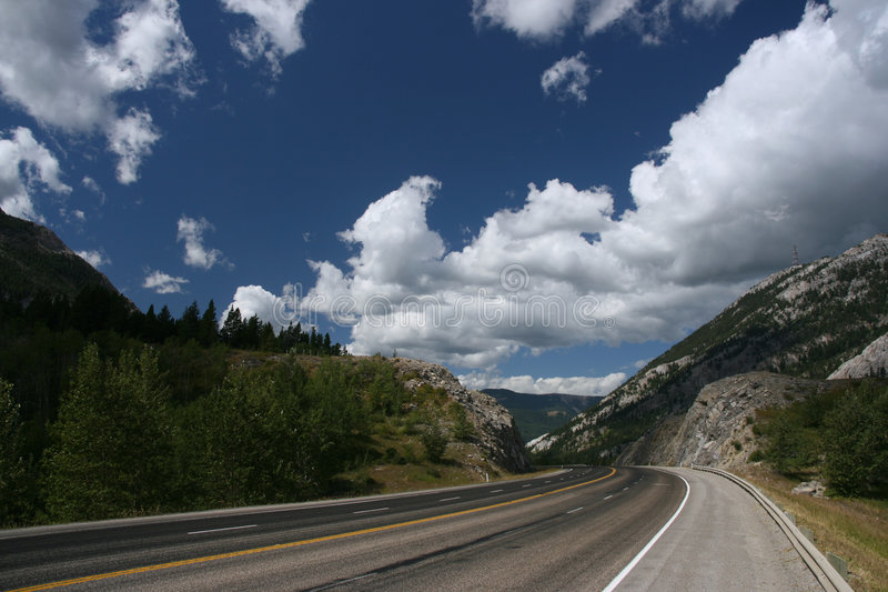 Estrada cénico em Canadá fotos de stock royalty free