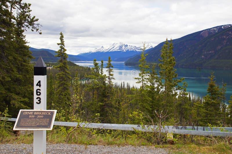Estrada Canadá de Alaska do lago Muncho foto de stock