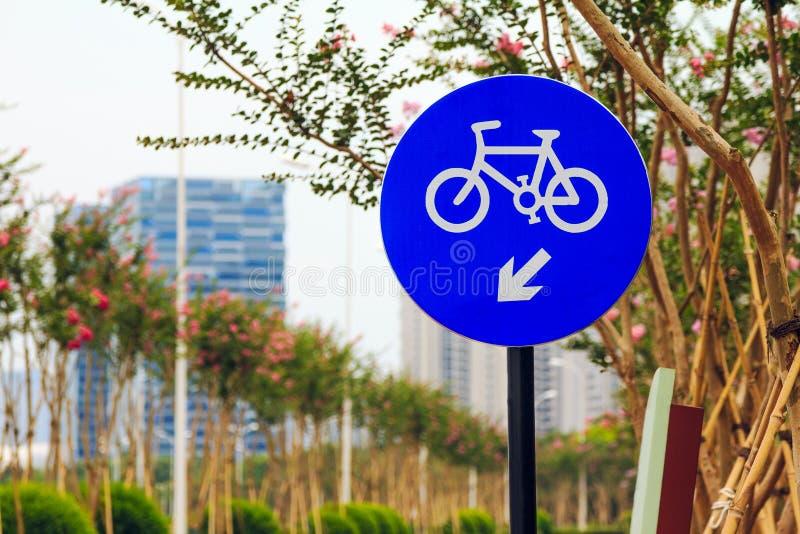 A estrada canta para bicicletas fotografia de stock royalty free