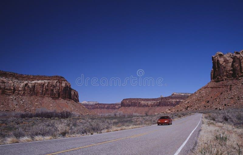 Estrada a Canyonlands fotografia de stock