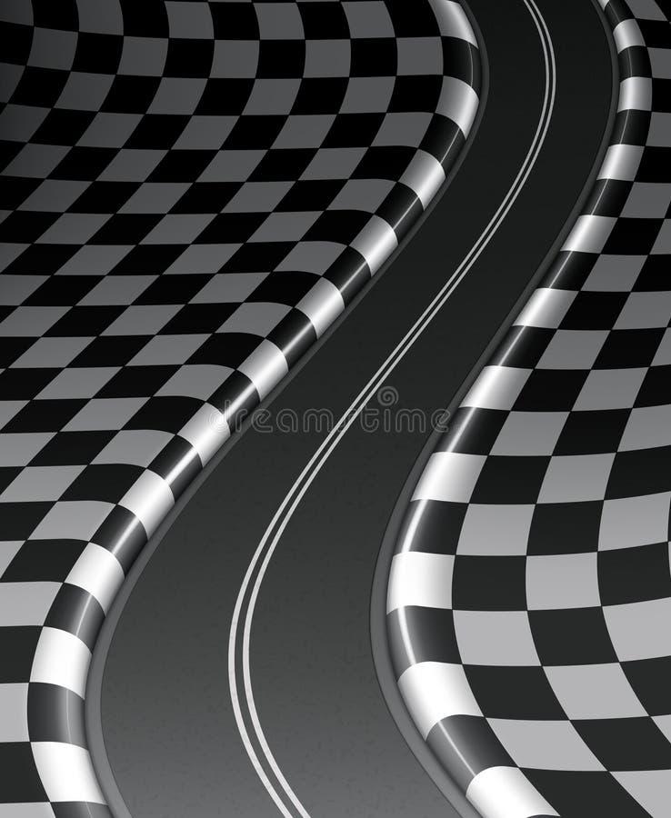 Estrada checkered ilustração royalty free