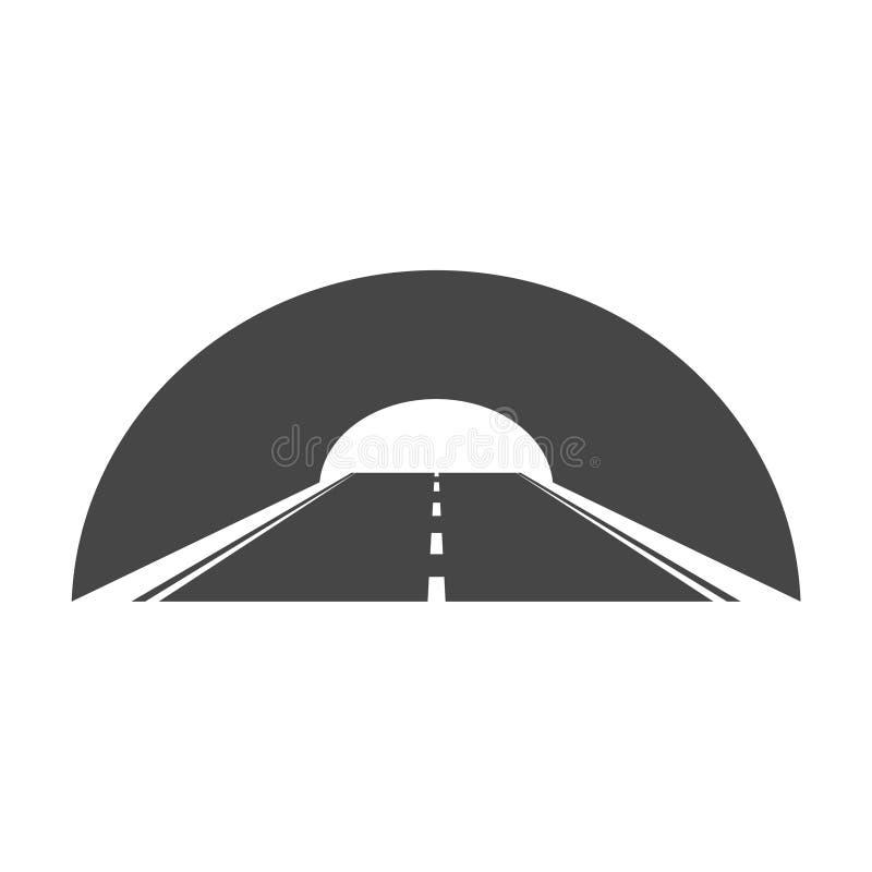 Estrada com ícone do túnel ilustração do vetor