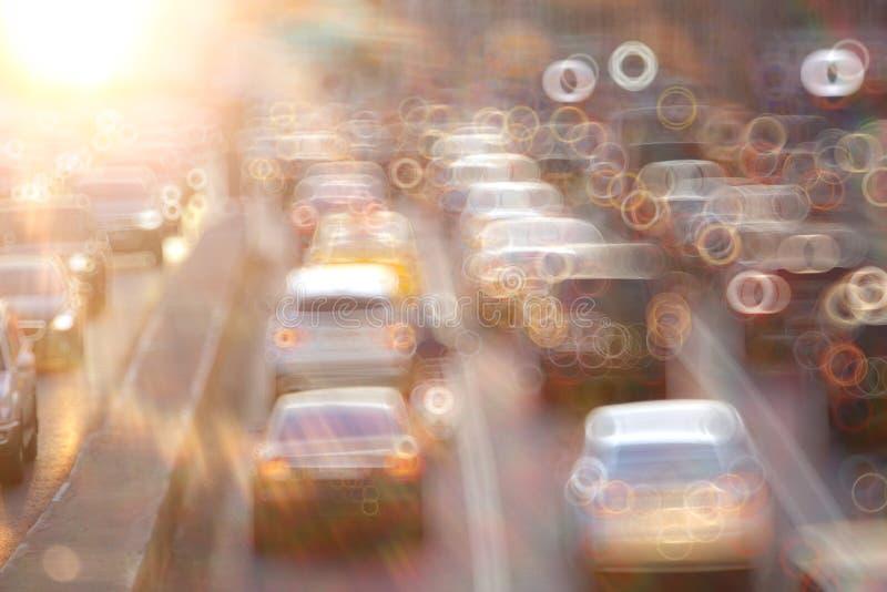 Estrada com borrão de movimento fotografia de stock royalty free
