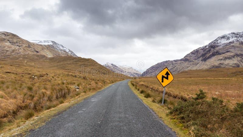 Estrada com a Irlanda fotos de stock