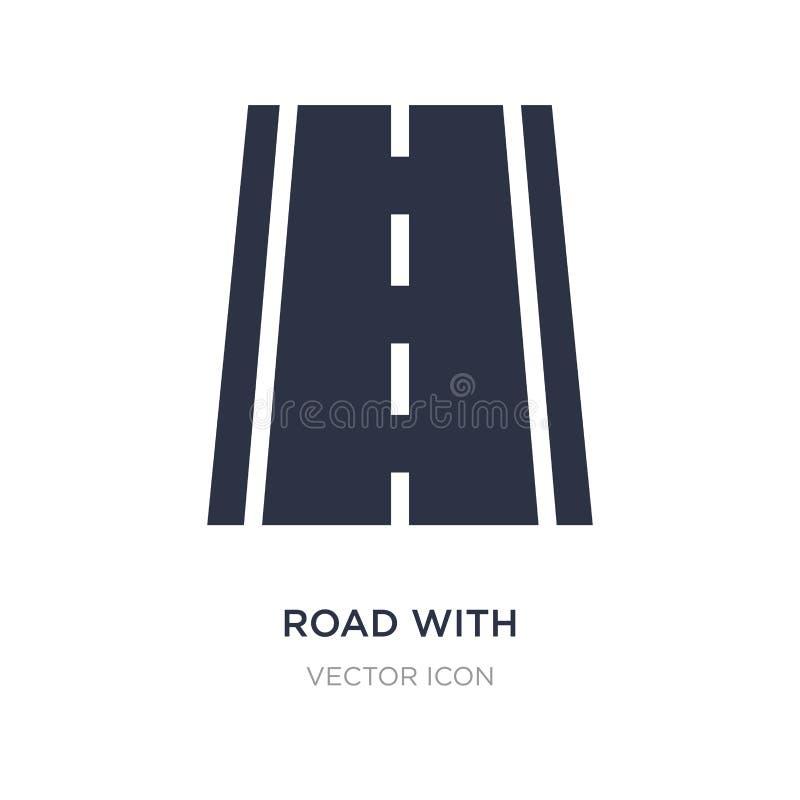 estrada com linhas quebradas ícone no fundo branco Ilustração simples do elemento do conceito do transporte ilustração stock