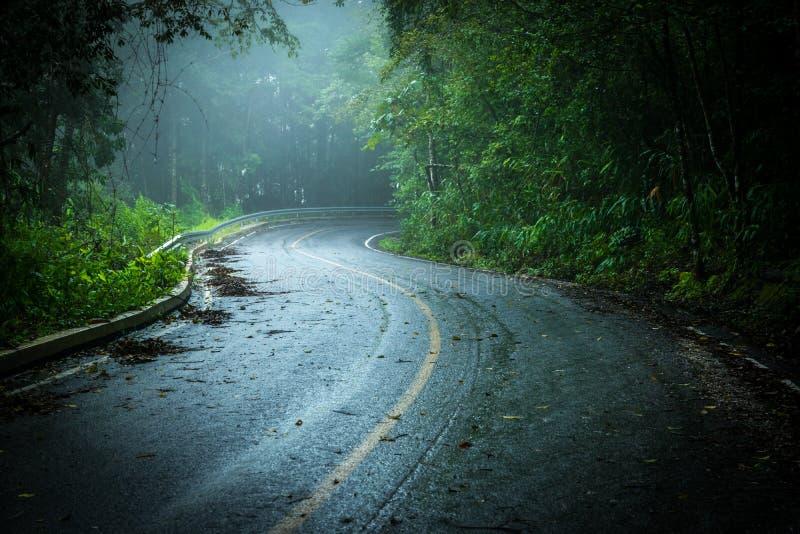 Estrada com névoa imagens de stock