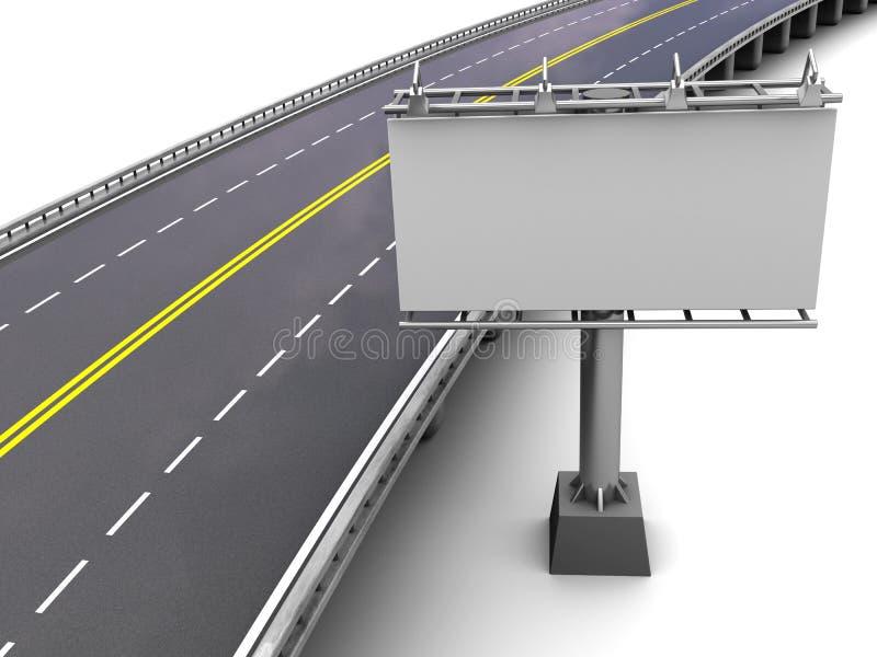 Estrada com quadro de avisos ilustração stock