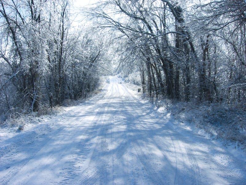 Download Estrada congelada foto de stock. Imagem de inverno, feriado - 16863174