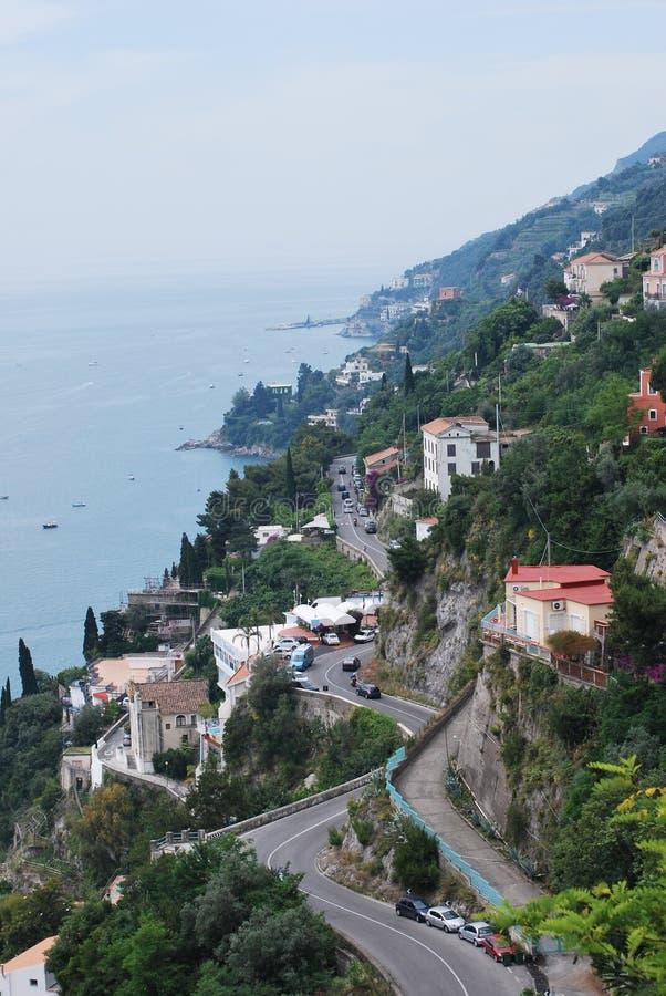 Estrada da costa de Amalfi foto de stock