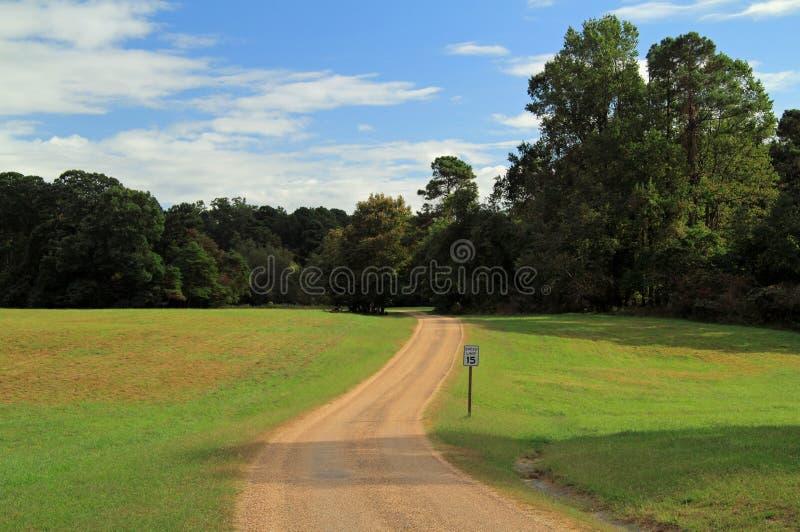 Estrada da excursão do campo de batalha de Yorktown auto foto de stock royalty free