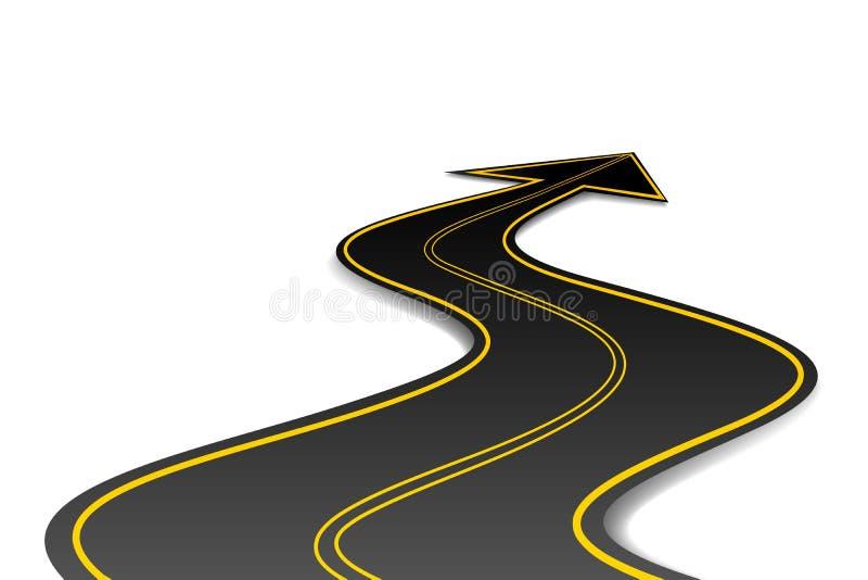 Estrada da forma da seta ilustração do vetor